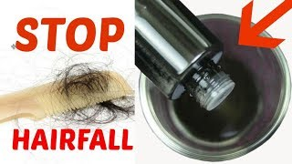 Stop hair fall and grow long thick hair faster with this BLACK OIL/INDIANGIRLCHANNEL TRISHA