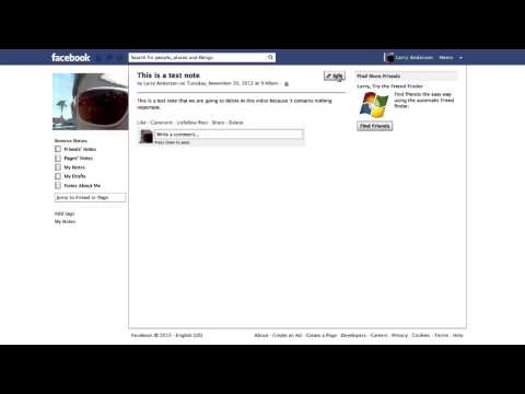 How to Delete Notes on Facebook