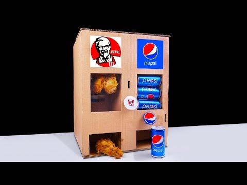 How to Make KFC Chicken Drumsticks and Pepsi Vending Machine from Cardboard
