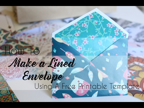 How To Make An Envelope for A Card (Free Printable Template Included)
