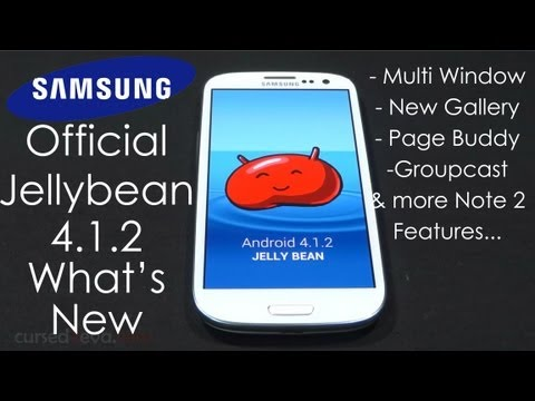 Galaxy S3 -  Official Jelly Bean 4.1.2 (Multi Window & Note 2 Features)  - Features - What's new