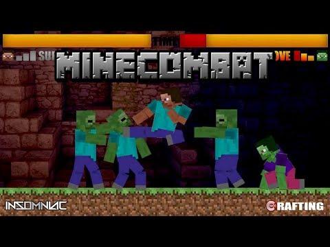 MineCombat 2D Beat Em Up Retro Fighting Game Imitation MINECRAFT ANIMATION