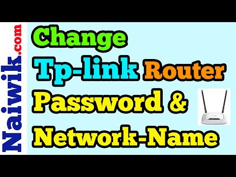 How to Change Tp-Link Wireless router Password and Network-Name [ SSID ]