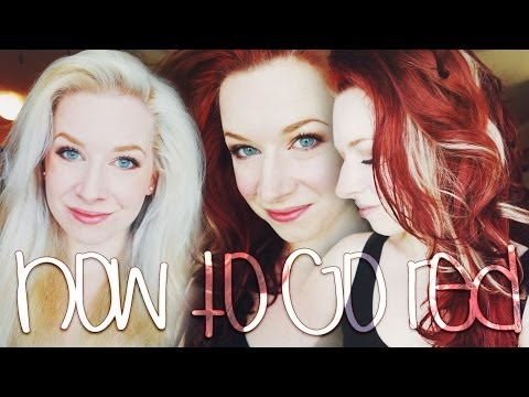 How to go Red ♡ Platinum Blonde to Deep Red