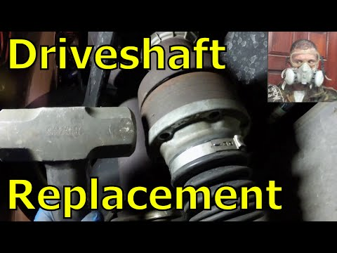 Rear Driveshaft Replacement on a Ford Escape.