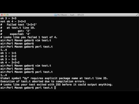 Organizing a test script with subtests in Perl