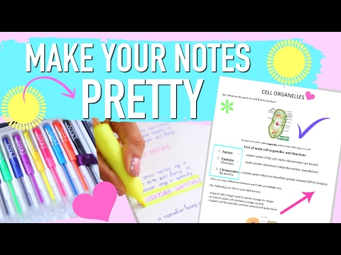 MAKE YOUR NOTES LOOK PRETTY | How to take pretty notes | Paris & Roxy