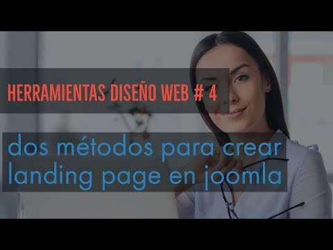 Dos métodos para crear landing page en joomla