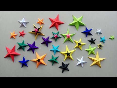 How to make a Colorful 3D Paper Star | Easy & Simple DIY