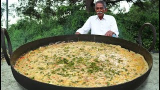 French Omelette Recipe   Big Omelette   Giant French Egg Omelette With Vegetables By Grandpa Kitchen