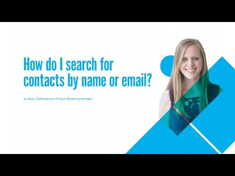 How do I search for contacts by name or email?