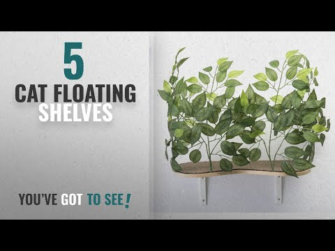 Top 10 Cat Floating Shelves [2018 ]: On2Pets Floating Cat Wall Shelves (Set of 2) White