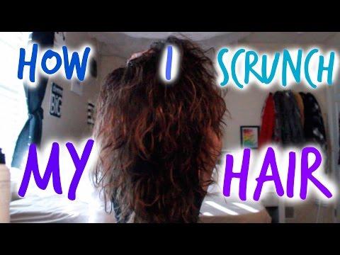HOW I SCRUNCH MY HAIR!