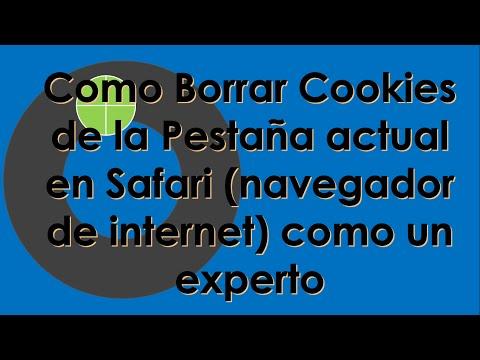 Como Borrar #Cookies de la Pestaña actual en #Safari como un experto