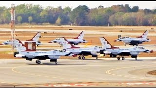 Entire USAF Thunderbirds Fleet Departs at Same Time (ATC Included)