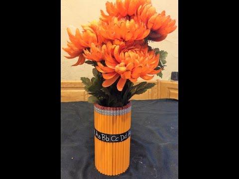 Pencil Flower Bouquet Vase - GREAT TEACHER GIFT