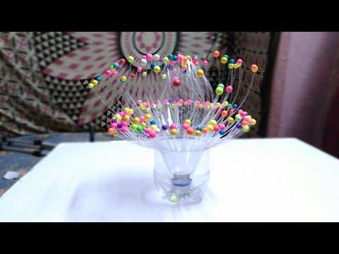 Empty Plastic Bottle Vase Making Craft - Water Bottle Recycle Flower Vase Art
