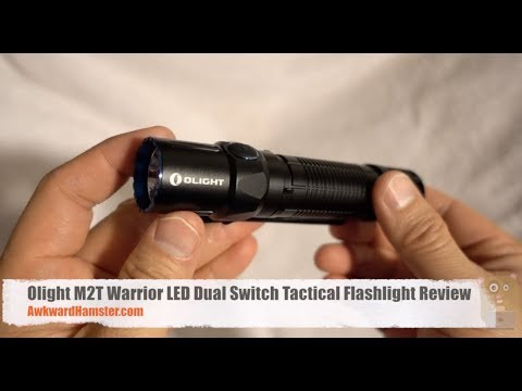 Olight M2T Warrior LED Dual Switch Tactical Flashlight Review