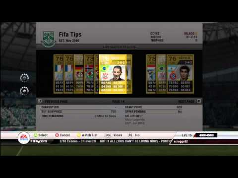 FIFA 12 Ultimate Team Coin Making Tutorial (Gold Player Method)