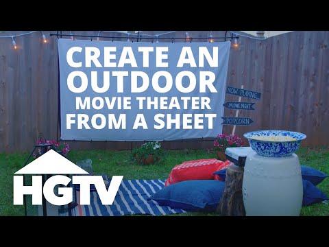 DIY Outdoor Movie Screen - Easy Does It - HGTV