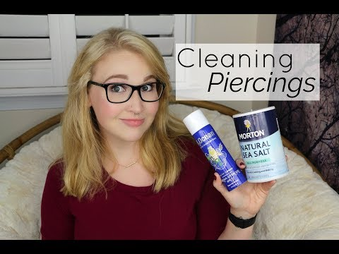 Cleaning Piercings WITH Sea Salt