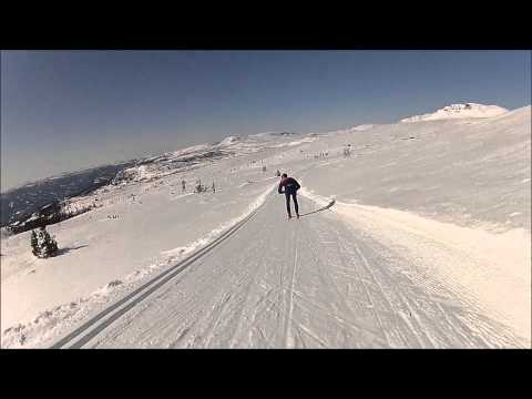 GoPro Hero HD cross country skiing at Norefjell, Norway