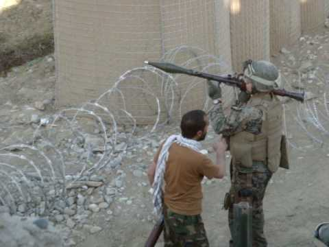 RPG Test Fire in Asmar Province Afghanistan