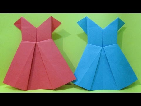 How to make easy origami dress || paper dress for girl.