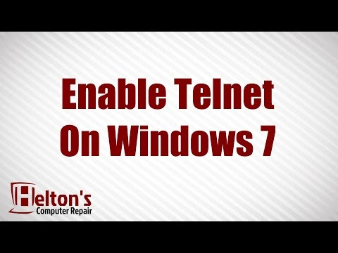 How to Enable Telnet On Windows 7