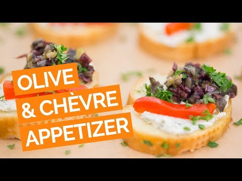 3 Olive Tapenade, Red Pepper & Goat Cheese Appetizer