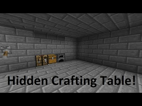 Hidden Crafting Table! Minecraft Pocket/Windows 10 Edition
