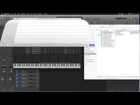 Add Samples, Create Instrument, EXS24 Sampler, Logic Pro X