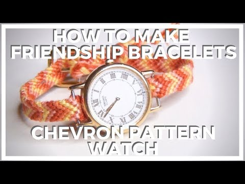 DIY Chevron Pattern Watch Band ♥ How To Make Friendship Bracelets