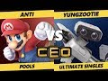 CEO 2019 SSBU - T1   ANTi (Mario) Vs. YungZootie (ROB) Smash Ultimate Tournament Pools