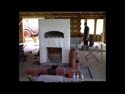 Timelapse building a masonry stove