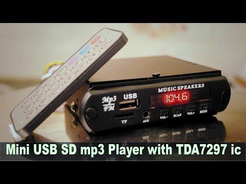 DIY Mini USB, SD Card, MP3 Player with TDA 7297 Audio IC Hindi Electronics [ELECTRO INDIA]