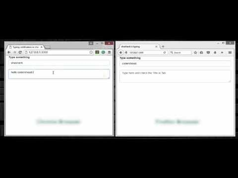 Typing notification in chatting application using nodejs and socket.io