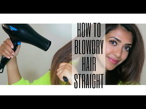 HOW TO BLOWDRY HAIR STRAIGHT   Step by Step   Vithya Hair and Makeup