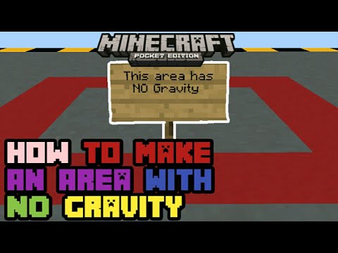 Minecraft PE 1.5x | How To Make an Area with NO Gravity! | Command Block creation