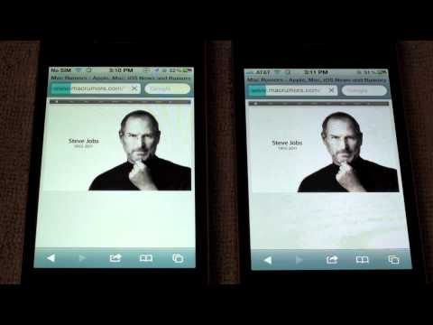 iPhone 4S Speedtest vs. iPhone 4