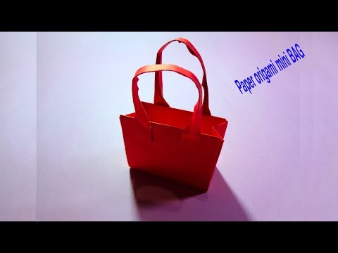 Origami Bag - How to make a paper mini Bag Tutorial