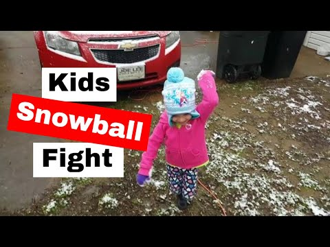 April snowball fight