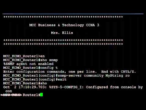 CCNA Students discuss & demonstrate SNMP