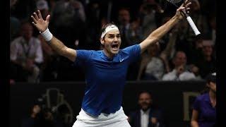 Roger Federer vs Nick Kyrgios - Laver Cup 2017 Highlights HD