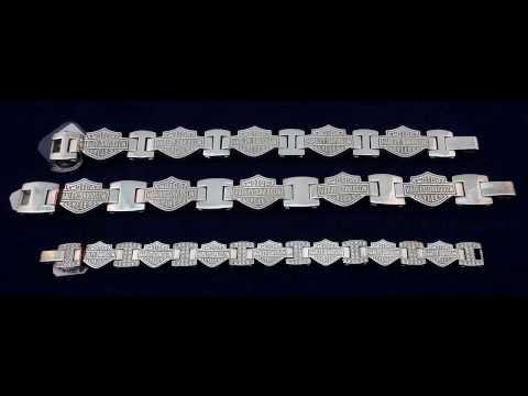 Harley Davidson Sterling Silver Bracelets