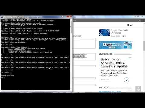 Simulasi Deadlock Pada Database Oracle