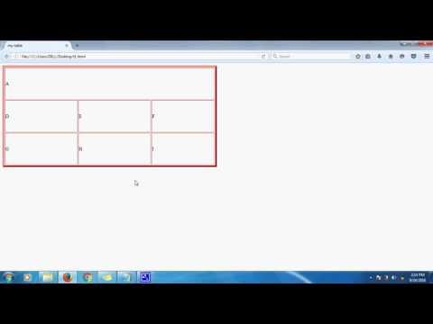 HTML Table Colspan and Rowspan
