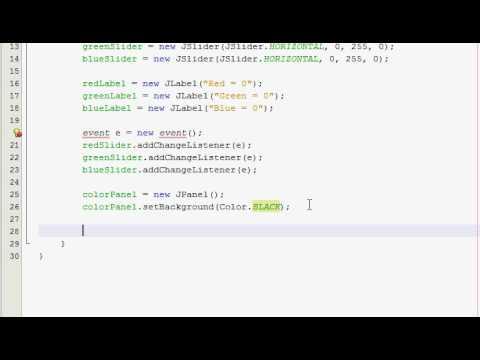 Java GUI Tutorial 21 - Slider color changer (Part 1)