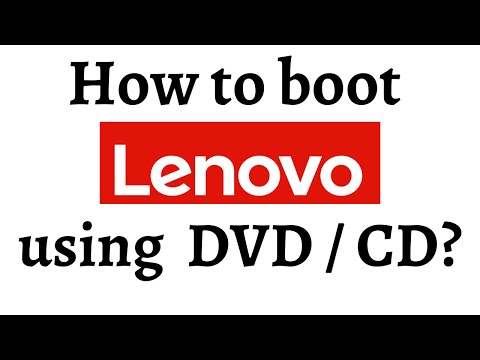 How to boot using DVD/CD (Lenovo G50)