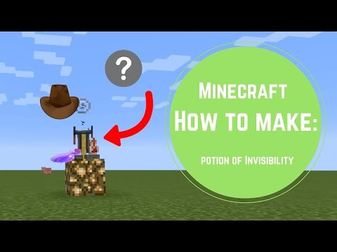 Minecraft 1.10 - How to make a potion of invisibility - Minecraft brewing guide #1
